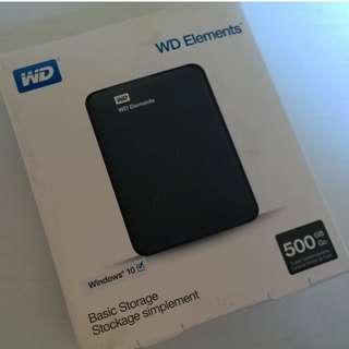WD ELEMENT 2.5 500GB NEW / HDD / HARDDISK / HARDDISK EXTERNAL