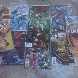 DC comics 10 pieces plus 1 free comic*