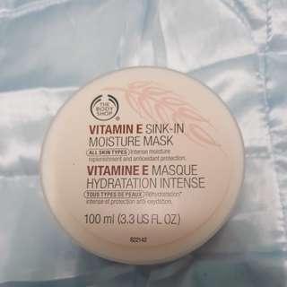 Body shop vitamin E sink-in moisture mask.