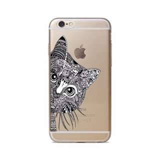 Thin Clear Soft TPU Rubber Case Cover iphone 6 6s 7 7 plus cat 5