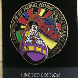 絕版香港廸士尼2005限量版襟章