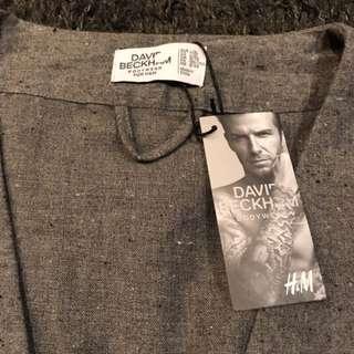 "[NEW - BNWT] - Size L/XL - ""David Beckham Bodywear for H&M"" - Grey Marl Nepped Dressing Gown"