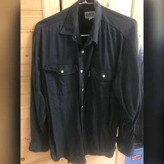 EDWIN 牛仔襯衫(黑)