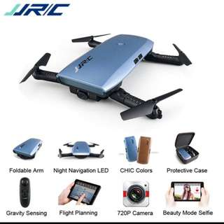 JJRC Elfie + Upgraded Foldable Drone With Gravity Sensing Control