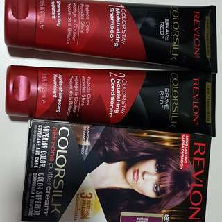 BN Revlon Colorsilk Set  (dye, shampoo & conditioner) 48BV Burgundy