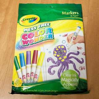 ~BNIP~ Crayola Mess Free Color Wonder Markets and Paper Pack