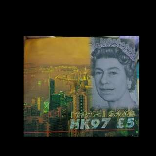 Hong Kong 1997 Bank of England 5 pounds