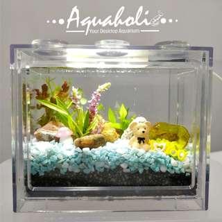 Aquaholic - 情人節桌上迷你積木生態缸