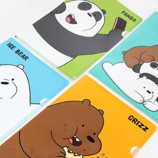 We Bare Bears Plastic Folder Stationery