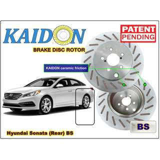"Hyundai Sonata brake disc rotor KAIDON (REAR) type ""BS"" / ""RS"" spec"