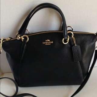 Authentic Coach Leather 2 Way Mini Satchel Bag