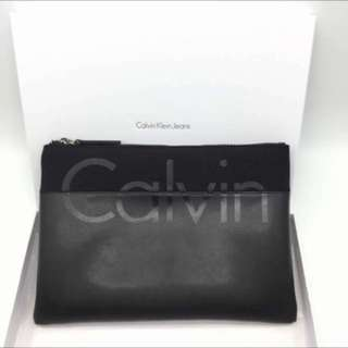 Authentic Calvin Klein men's hand clutch pouch bag