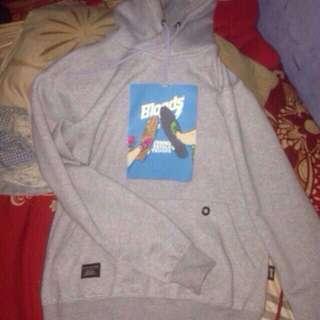 Jaket hoodie grey bloods