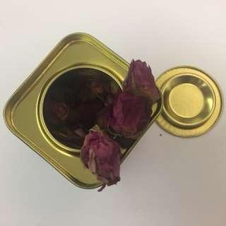 玫瑰花茶 鐵罐
