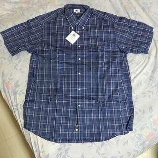 Authentic Lacoste Men's Blue Checkered Polo