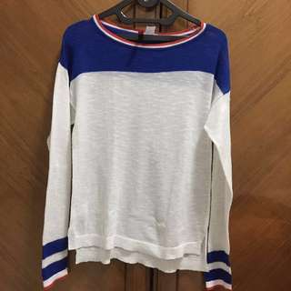 H&m red, blue & white thin long sleeves shirts