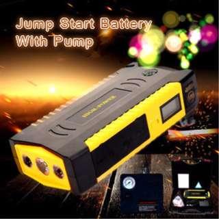 Car jump starter with Air Pump 82800mAh 12v multi function battery starter powerful jumper starter