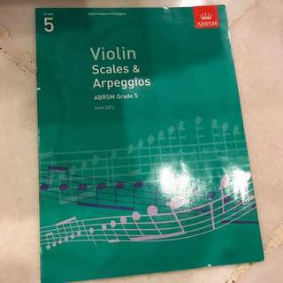 Violin scales and arpeggios ABRSM Grade 5