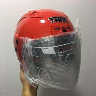 TRAX TR06RR Chilli Red Helmet
