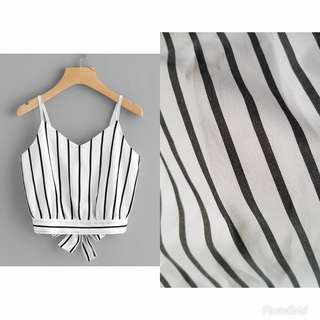 Chloe Crop Top x Black & White Stripes