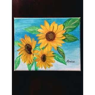 Sunflower Painting / Wall Decor
