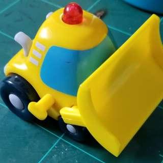 絕版**麥當勞2002年SANRIO 黃色小鏟車 珍藏 懷舊收藏