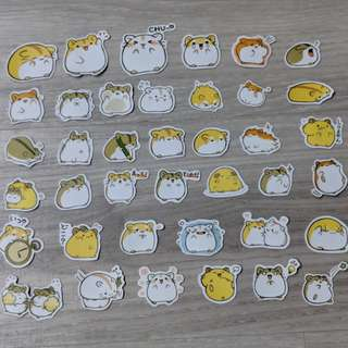 [PO] Cute Hamster Flake Stickers