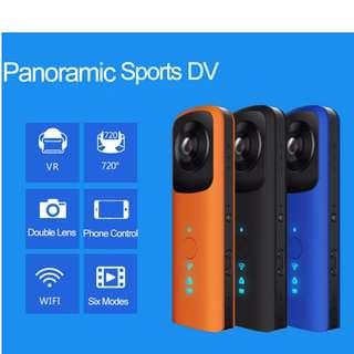 Portable Mini Wifi 360 Camera VR Action Video Camera Double Fisheye Lens 720 Degree Panoramic Camcorder Full View Sports DV DVR