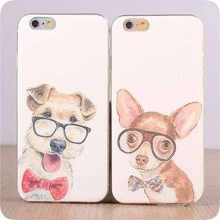 Apple iphone 6 s plus 雪纳瑞、 小鹿犬超薄透明邊 彩繪工藝 手機軟殼 原價$98 特價$70