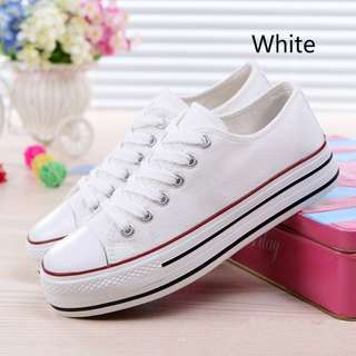 Platform Student Canvas Shoes