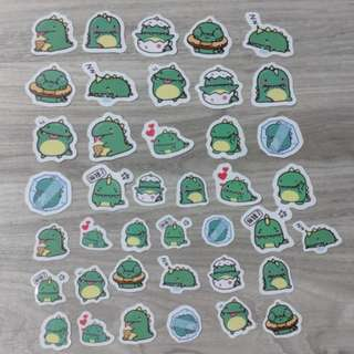 [PO] Cute Dinosaur Flake Stickers