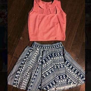 Fashion Bundle (Crop Top & Skater Skirt )
