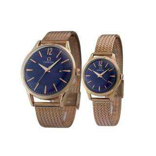 👆👆 Omega couple  HA 57/24  RM8SM/RM11SS  Material : Steel Condition : NEW Gender : Couple  Free GiftBox ==================  Spec Ringkas :  ✔ 1 month Warranty mesin ✔ battery watch ✔ gred AAA ✔Analog n date function ✔️Water resistant (no warranty)  #WK