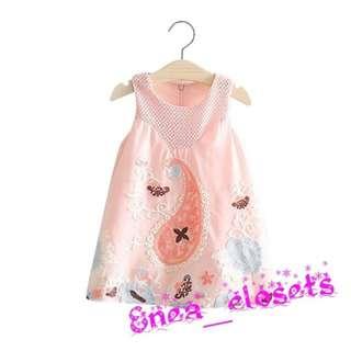 NEW Girl Sleevless Embroidered Dress