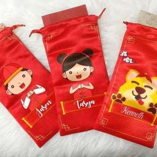 CUSTOM RED PACKETS DUSTBAG