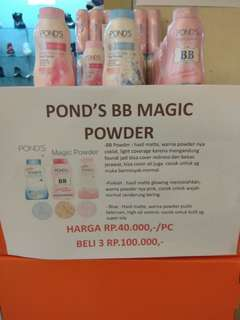PONDS MAGIC POWDER 4 PCS ALL ITEM