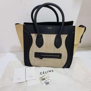 Celine mini luggage 3tone