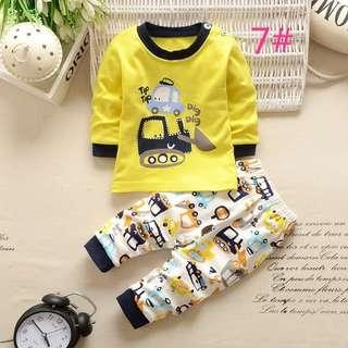 3-4yrs Kids Long Sleeve Pyjamas