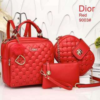 Dior set 3 in 1 bag hot in town