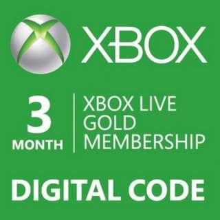 Xbox Live Gold Membership - 3 months