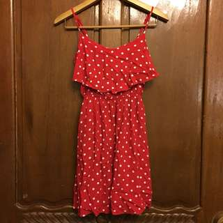 Cotton On Red Polka Dot Dress