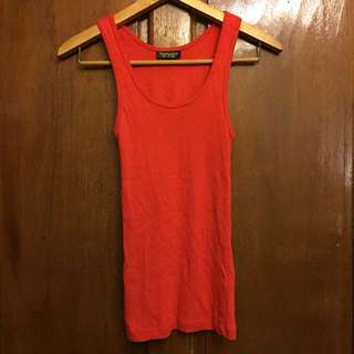 Topshop Red Racerback Tank Top