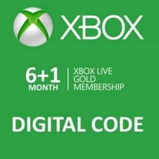 Xbox Live Gold Membership - 7 Months
