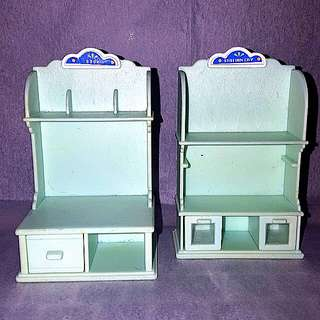 Sylvanian Stationery Shop Cabinets (Vintage)