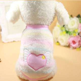 Cute dog pastel angel heart clothes (size s)