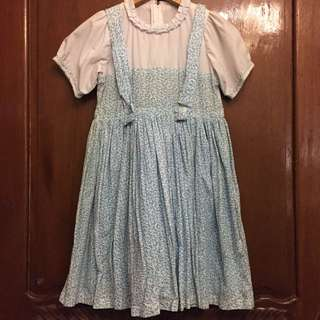 Dorothy or Alice in Wonderland Costume (Blue overall dress)