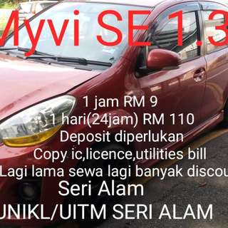 Car Rental Myvi 1.3 SE