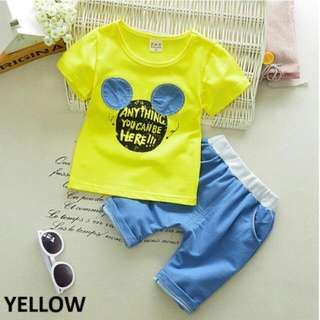 34922 Mickey Children Shirt & Pants Set