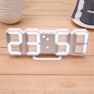 Jam Meja LED Digital Clock. Warna : Putih. Berat : 400Gr. Garansi Toko 7hr.