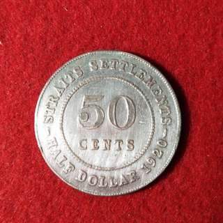 50 cent straits settlements Edward Vii coin